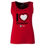 Germany Euro 2016 Women's Heart Scoopneck Tank (Red)
