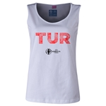 Turkey Euro 2016 Women's Elements Scoopneck Tank (White)