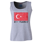 Turkey Euro 2016 Women's Flag Scoopneck Tank (Grey)