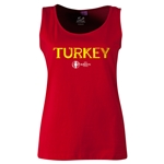 Turkey Euro 2016 Women's Core Scoopneck Tank (Red)