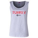 Turkey Euro 2016 Women's Core Scoopneck Tank (White)