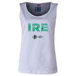 Ireland Euro 2016 Women's Elements Scoopneck Tank (White)