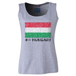 Hungary Euro 2016 Women's Flag Scoopneck Tank (Grey)