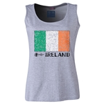 Ireland Euro 2016 Women's Flag Scoopneck Tank (Grey)