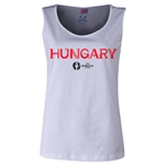 Hungary Euro 2016 Women's Core Scoopneck Tank (White)