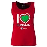 Hungary Euro 2016 Women's Heart Scoopneck Tank (Red)