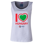 Hungary Euro 2016 Women's Heart Scoopneck Tank (White)