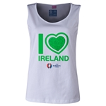Ireland Euro 2016 Women's Heart Scoopneck Tank (White)