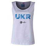 Ukraine Euro 2016 Women's Elements Scoopneck Tank (White)