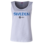 Sweden Euro 2016 Women's Core Scoopneck Tank (White)