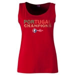 Portugal UEFA Euro 2016 Champions Women's Scoopneck Tank (Red)