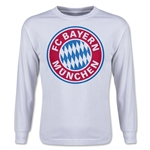 Bayern Munich Youth LS T-Shirt (White)