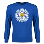 Leicester City Crest Youth LS T-Shirt (Royal)