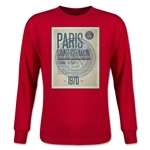 Paris Saint-Germain Poster Youth LS T-Shirt (Red)