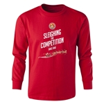 FC Santa Claus Sleighing the Competition Youth Long Sleeve T-Shirt (Red)