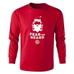 FC Santa Claus Fear the Beard Youth Long Sleeve T-Shirt (Red)