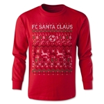 FC Santa Claus Christmas Sweater Youth LS T-Shirt (Red)