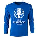 UEFA Euro 2016 Long Sleeve Youth Core T-Shirt (Royal)