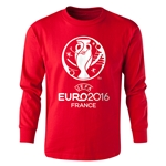 UEFA Euro 2016 Long Sleeve Youth Core T-Shirt (Red)