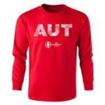 Austria Euro 2016 Long Sleeve Youth Elements T-Shirt (Red)