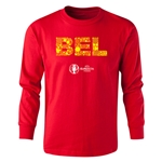 Belgium Euro 2016 Long Sleeve Youth Elements T-Shirt (White)