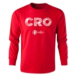 Croatia Euro 2016 Long Sleeve Youth Elements T-Shirt (Red)