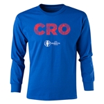 Croatia Euro 2016 Long Sleeve Youth Elements T-Shirt (Royal)