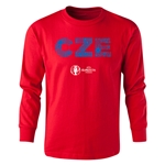 Czech Republic Euro 2016 Long Sleeve Youth Elements T-Shirt (Red)