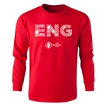 England Euro 2016 Long Sleeve Youth Elements T-Shirt (Red)