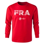France Euro 2016 Long Sleeve Youth Elements T-Shirt (Red)