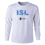 Iceland Euro 2016 Long Sleeve Youth Elements T-Shirt (White)