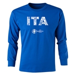 Italy Euro 2016 Long Sleeve Youth Elements T-Shirt (Royal)