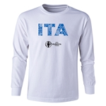 Italy Euro 2016 Long Sleeve Youth Elements T-Shirt (White)
