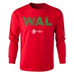 Wales Euro 2016 Long Sleeve Youth Elements T-Shirt (Red)