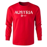 Austria Euro 2016 Long Sleeve Youth Core T-Shirt (Red)