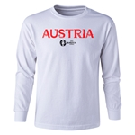 Austria Euro 2016 Long Sleeve Youth Core T-Shirt (White)