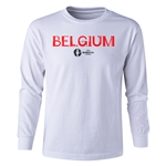 Belgium Euro 2016 Long Sleeve Youth Core T-Shirt (White)