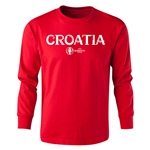 Croatia Euro 2016 Long Sleeve Youth Core T-Shirt (Red)