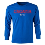 Croatia Euro 2016 Long Sleeve Youth Core T-Shirt (Royal)