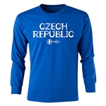 Czech Republic Euro 2016 Long Sleeve Youth Core T-Shirt (Royal)