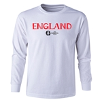 England Euro 2016 Long Sleeve Youth Core T-Shirt (White)