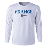 France Euro 2016 Long Sleeve Youth Core T-Shirt (White)
