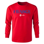 France Euro 2016 Long Sleeve Youth Core T-Shirt (Red)