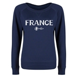 France Euro 2016 Long Sleeve Youth Core T-Shirt (Navy)