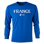 France Euro 2016 Long Sleeve Youth Core T-Shirt (Royal)