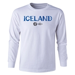 Iceland Euro 2016 Long Sleeve Youth Core T-Shirt (White)