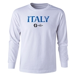 Italy Euro 2016 Long Sleeve Youth Core T-Shirt (White)