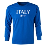Italy Euro 2016 Long Sleeve Youth Core T-Shirt (Royal)