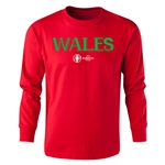 Wales Euro 2016 Long Sleeve Youth Core T-Shirt (Red)