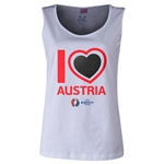Austria Euro 2016 Long Sleeve Youth Heart T-Shirt (White)
